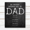 My Greatest Blessings Call Me Dad - Personalized gift for Father's Day