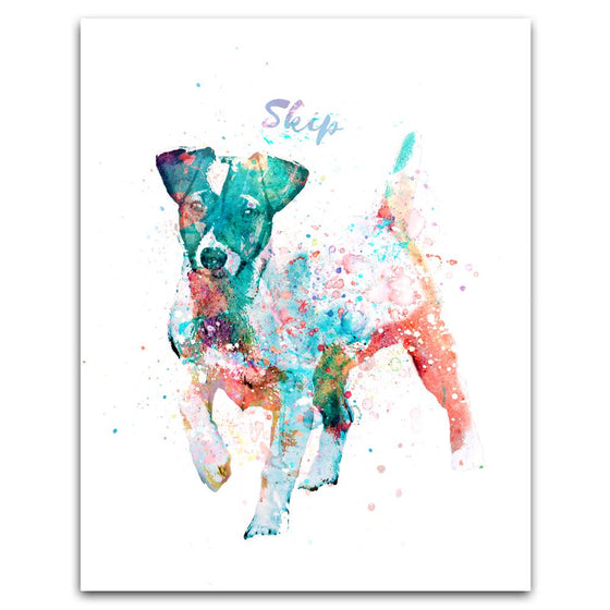 Jack Russell Watercolor Print