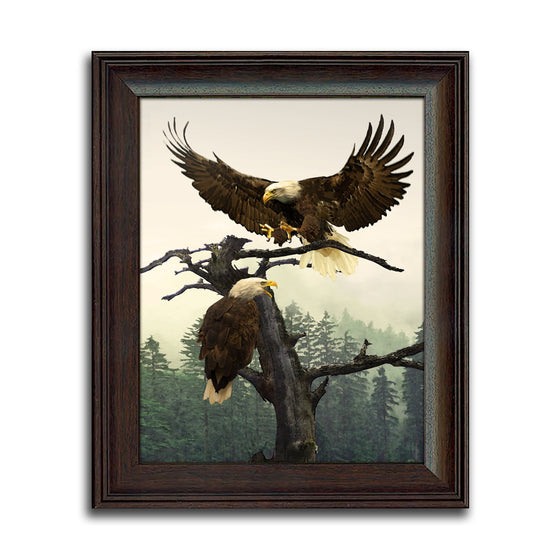 Bald Eagle Framed Art Picture - Patriotic Gift personalized for you