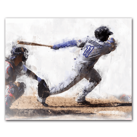 baseball personalized sports print art - your name on the jersey