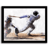 Baseball framed canvas art from Personal Prints