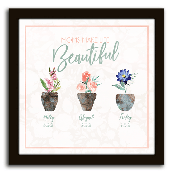 Gift for Mom - Birth Month Flowers