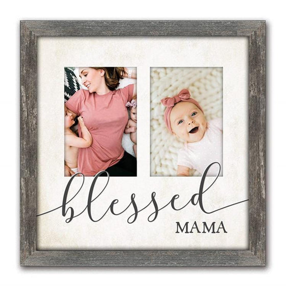 Mom your photo to art using pictures of her kids- framed canvas