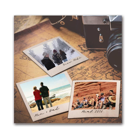 Use your photos to create a vintage camera Polaroid art print!