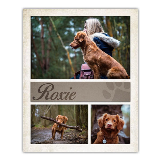 Pet Dog Photo Wall Collage Art Print - Persoanlized Dog Gift from Personal-Prints
