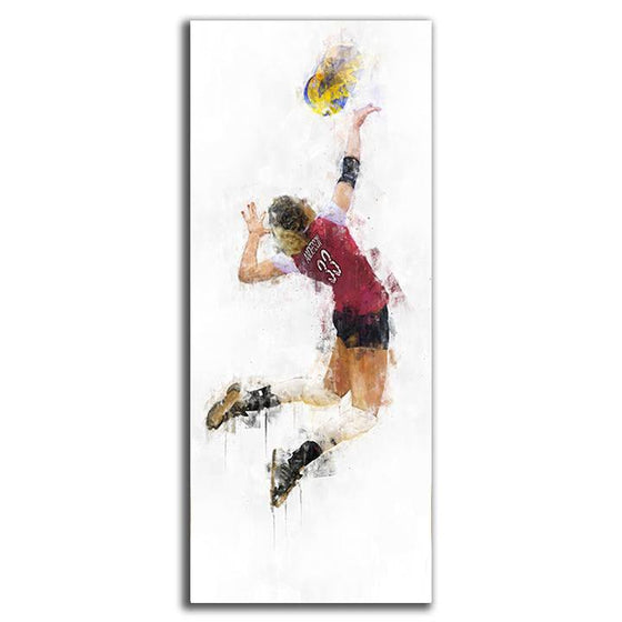 Personalized Volleyball Gift - Watercolor Sports Art from Personal-Prints