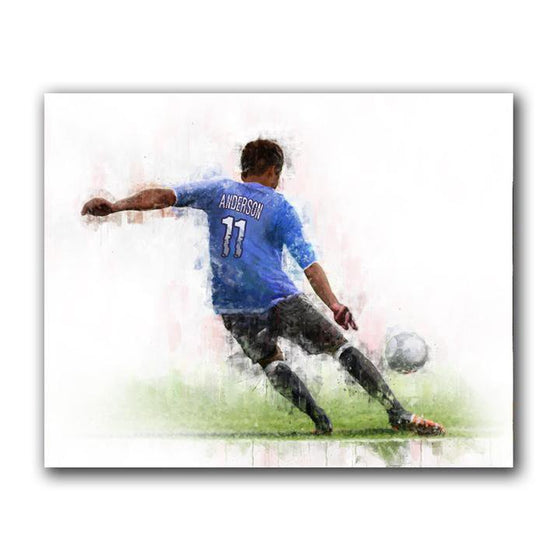 Personalized Soccer Sports Art from Personal Prints