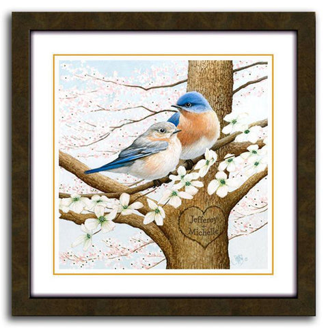 Blue Birds - personalized art by Scott Kennedy