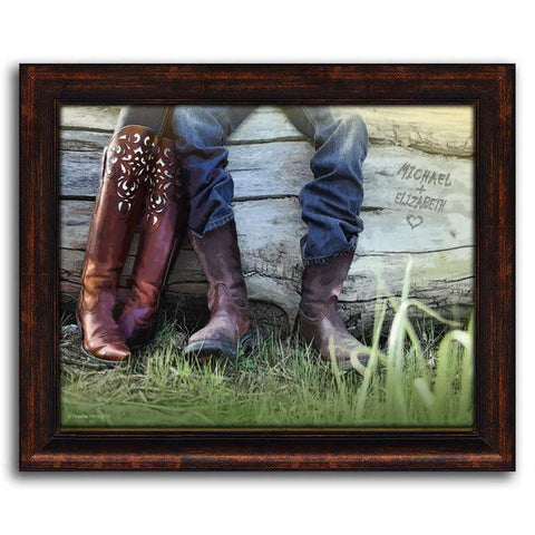 Boots - Framed Canvas