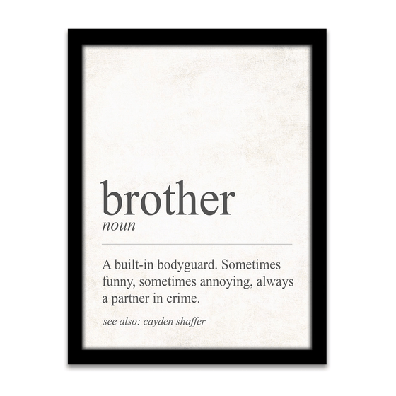 Definition of a Brother - Personalized gift for your brother