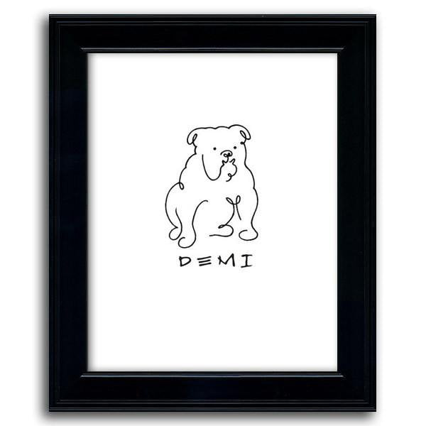 Personalized Bulldog Framed Under Glass