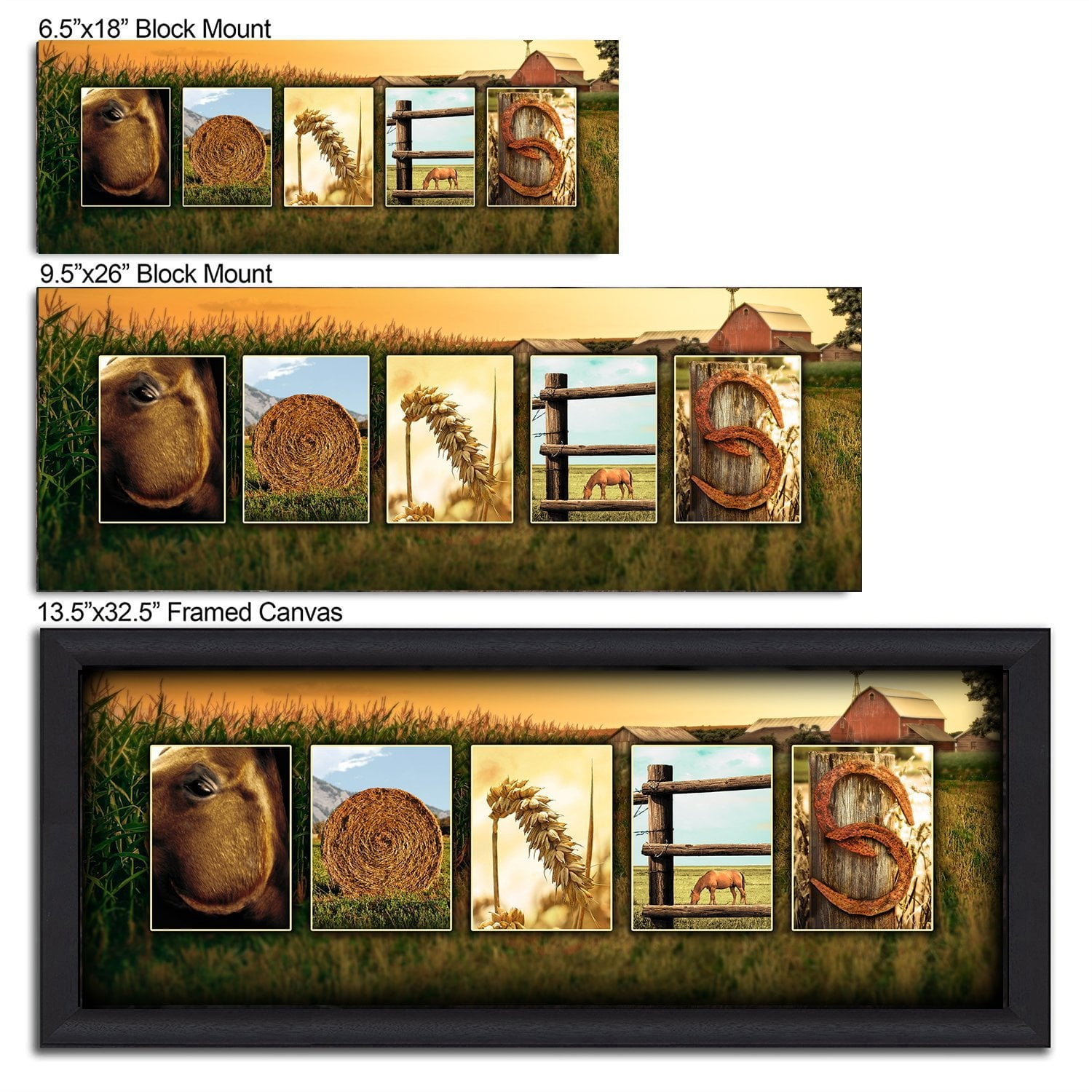 Horse Country Western Letter Art - Personal-Prints