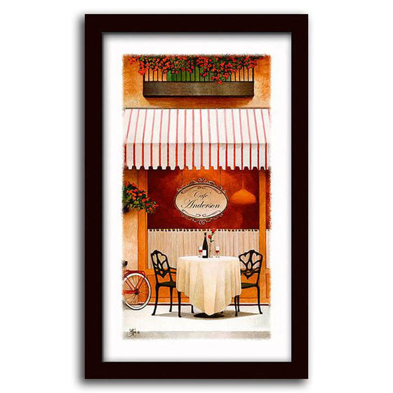 Personalized Sidewalk Cafe Canvas Art Painting from Personal-Prints