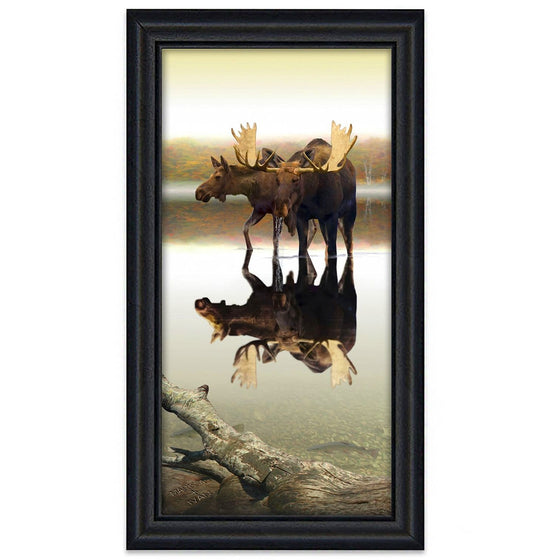 Peaceful Pair Moose Art Canvas from Personal-Prints