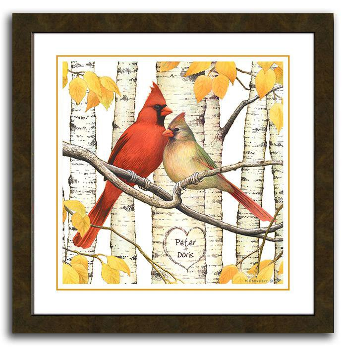 Cardinals - Your names personalized in the heart