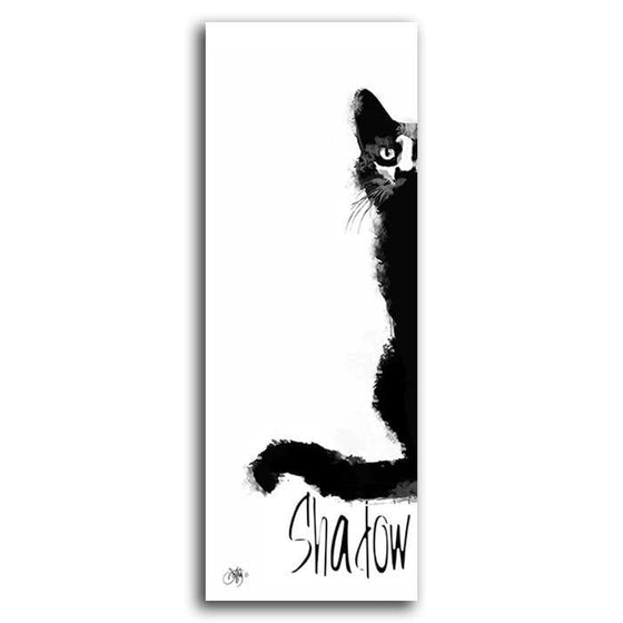 Black and white pet painting with the pet's name - Personal-Prints