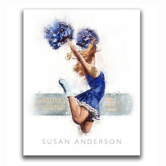 Personalized Cheerleader Art