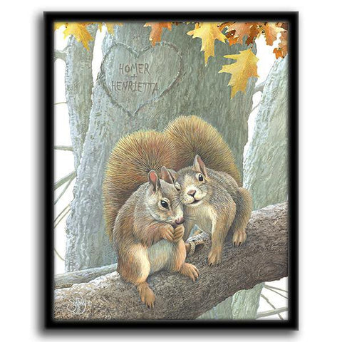 Couple of Nuts - Framed Canvas