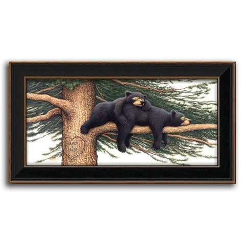 Cozy Bears - Personalized Framed Canvas
