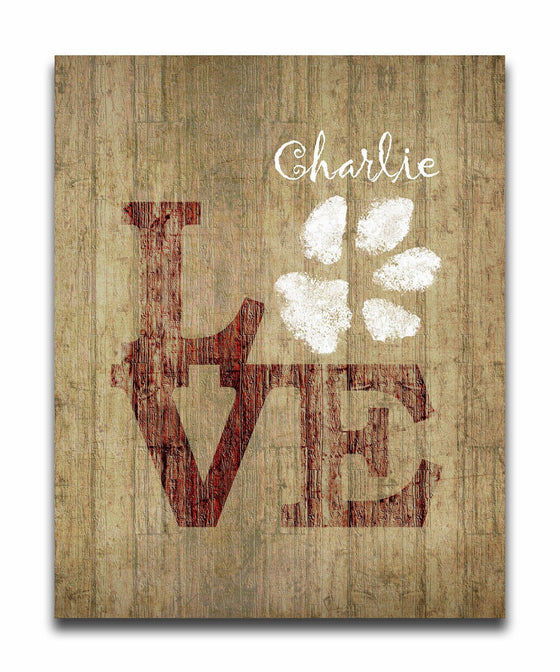 Personalized dog gift with the word LOVE - Personal-Prints