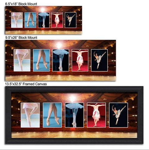 Dance Name Art - Size Comparisons