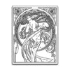 Alphonse Mucha The Dance Coloring Page