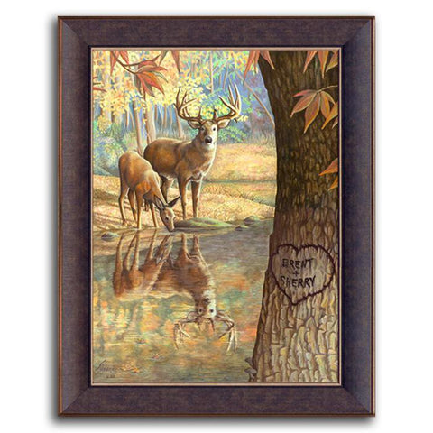 Deer to My Heart - Personalized canvas art