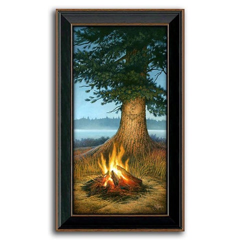 Evening Glow - Framed Canvas