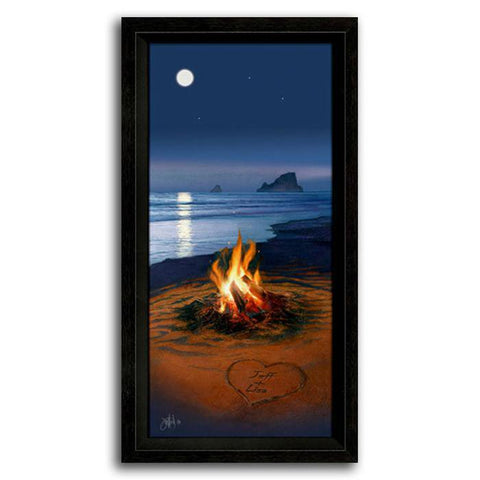 Evening In Paradise - Framed Canvas