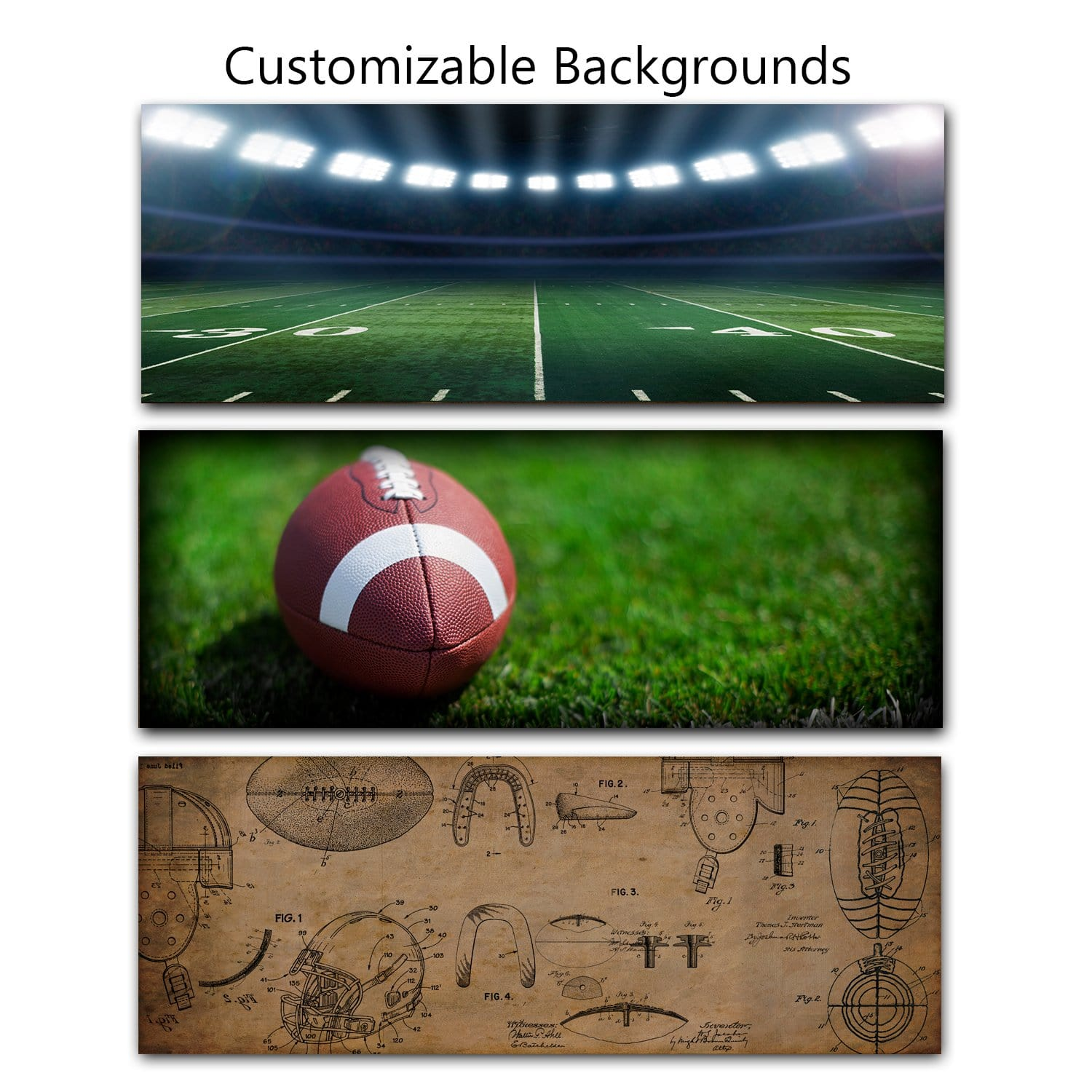 Football Personalized Name Art Football Gifts Personal Prints