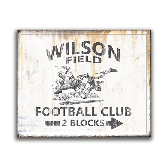 Vintage American Football Sign- Block Mount