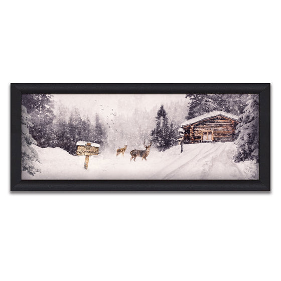 Scenic winter snow canvas art - Stopping by Woods - Personal Prints
