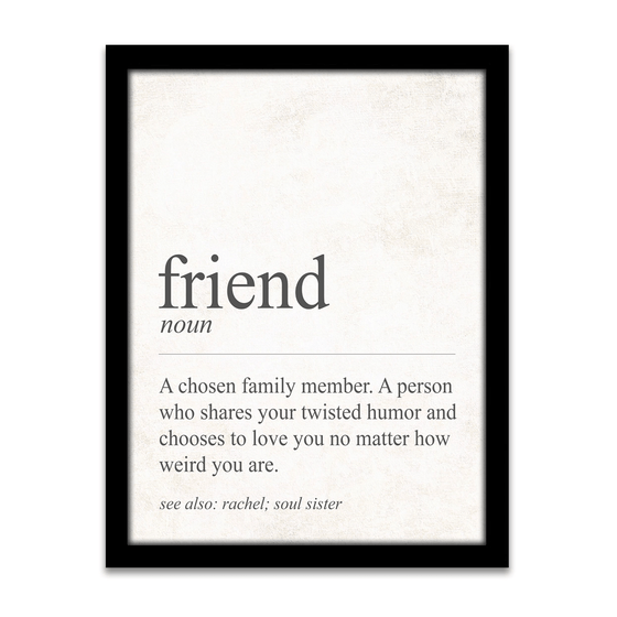 definition of a friend - fun personalized gift for a friend