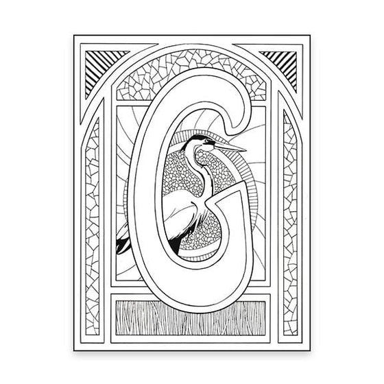 G Monogram Coloring Page