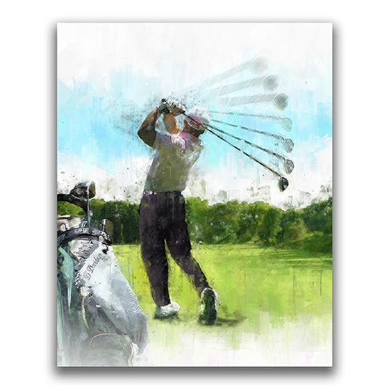 Personalized gift for golfer - Watercolor Golf Art from Personal-Prints