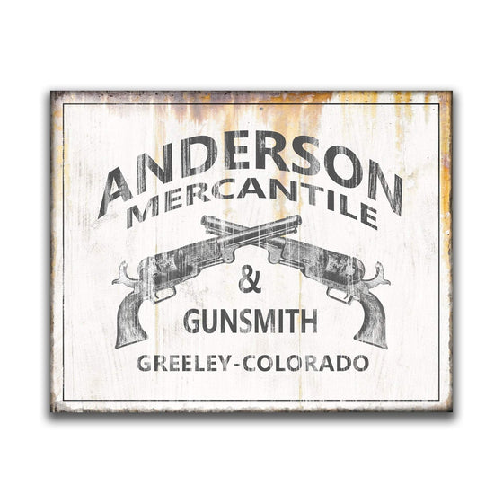 Vintage Gunsmith Sign Personalized with your Name from Personal-Prints