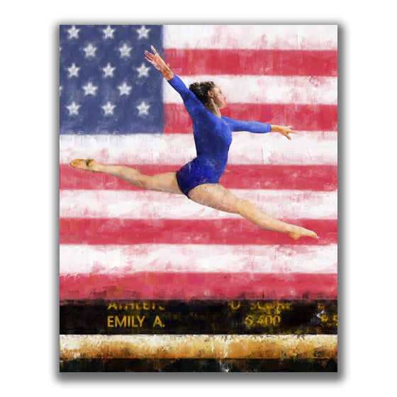 Personalized Gymnast Art