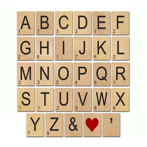 Game Tiles - Full Alphabet