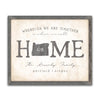 Personalized Home State Art Wall Decor from Personal Prints