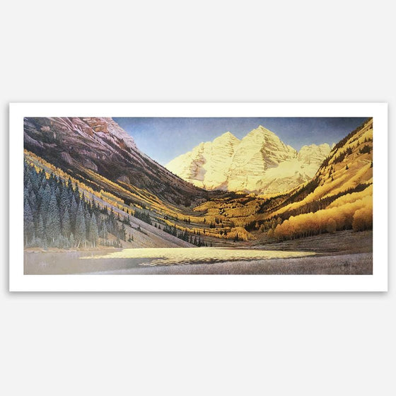 Rocky Mountain Gold - Maroon Bells painting by artist Scott Kennedy