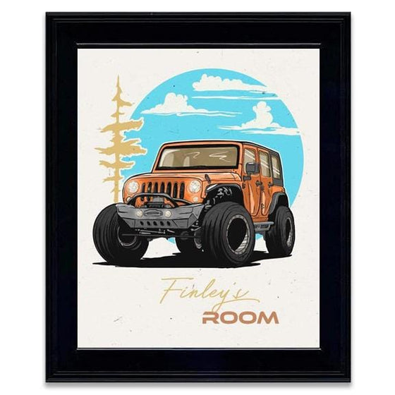 Framed Jeep Art Print - Personalized 4x4 Gifts from Personal-Prints