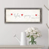Love Intertwined romantic art decor including yours and your spouce's names and anniversary date lifestyle with flower gift