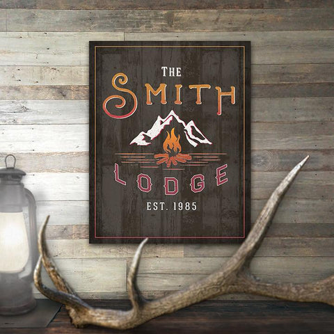 In Room View - Personalized Lodge Sign