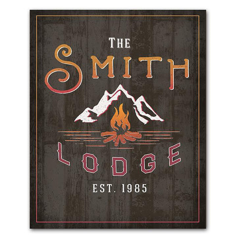 Personalized Lodge Sign