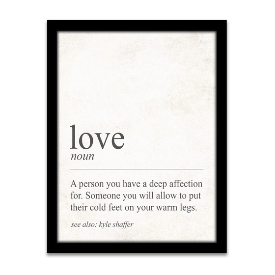 The definition of Love - Personalized Gift for the one you love