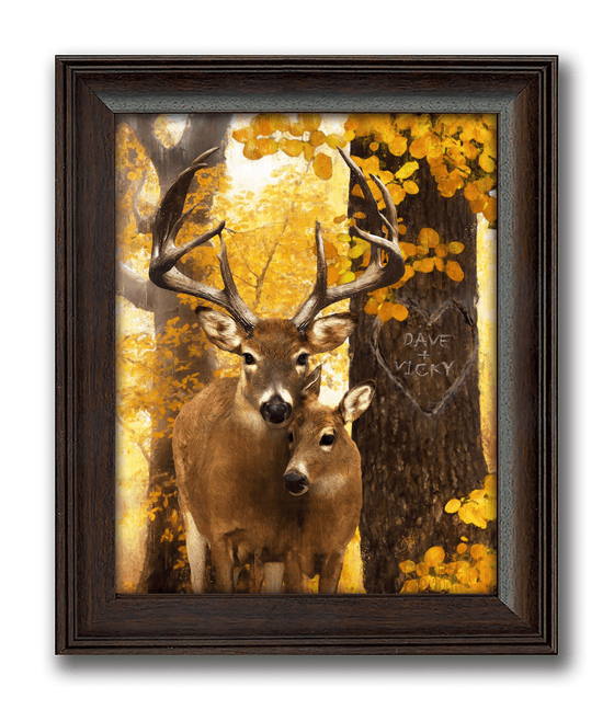 Framed Deer Nature Art Decor from Personal-Prints