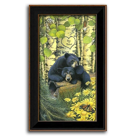 Personalized Love Bears - Framed Canvas