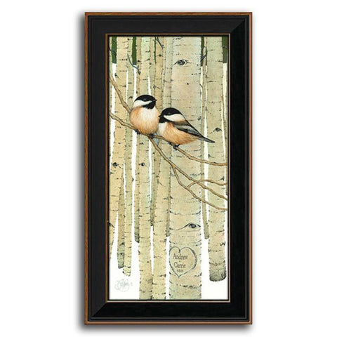 Love Birds - Personalized art by Scott Kennedy - Framed Canvas