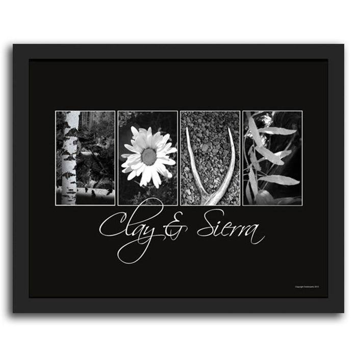 Pictures Of Letters In Nature Framed Floral Art Personalized Art