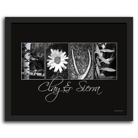 Nature Themed Love Letters - Framed